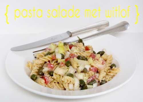pasta met witlof en gehakt