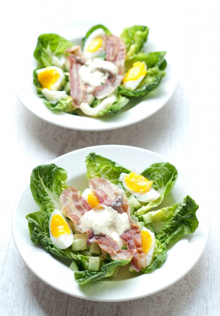 Paleo salade met bacon 2