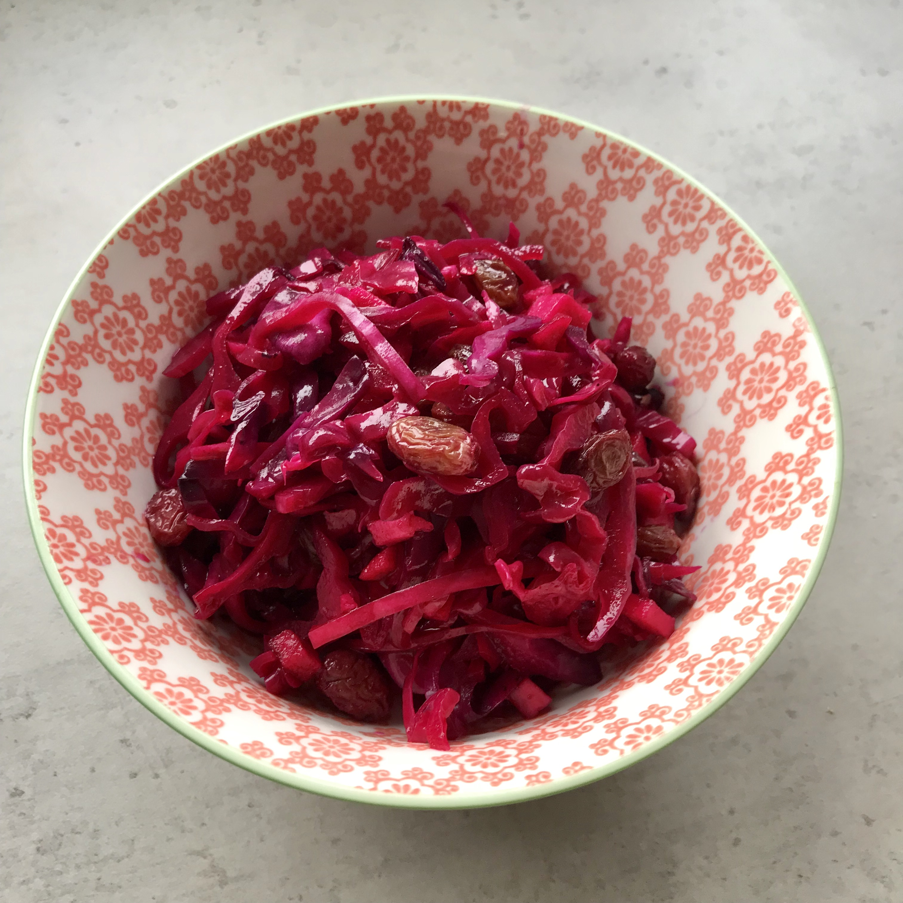 Rode kool salade